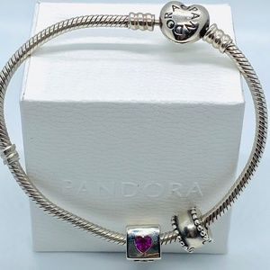 AUTHENTIC PANDORA Love Dice Charm, Red & Clear CZ